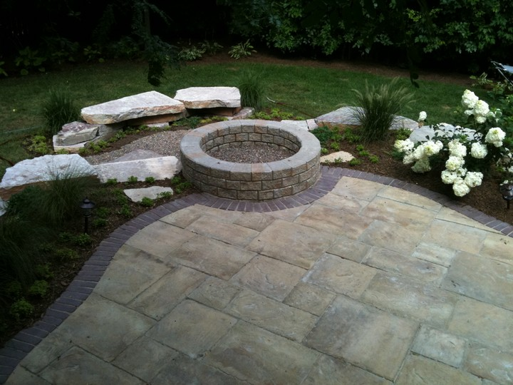 Featured Patio Shows A Unilock Yorkstone Slab In Honey Gold With Copethorne Solr Course